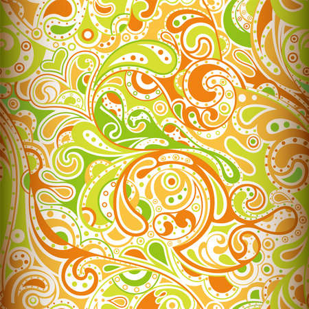 lime green: Abstract Paisley Pattern 2