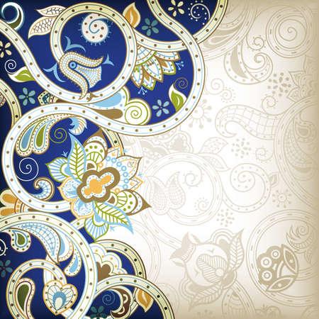 Absztrakt Kék Virág