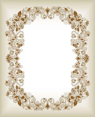 Abstract Eastern Floral Frame