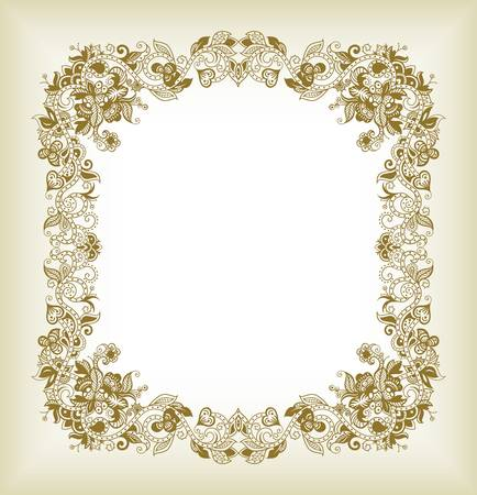 aisa: Abstract Asia Floral Frame