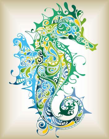 Abstract Seahorse Stock Vector - 12268802