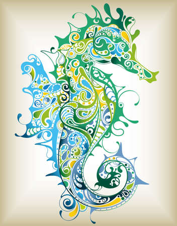 sea green: Abstract Seahorse