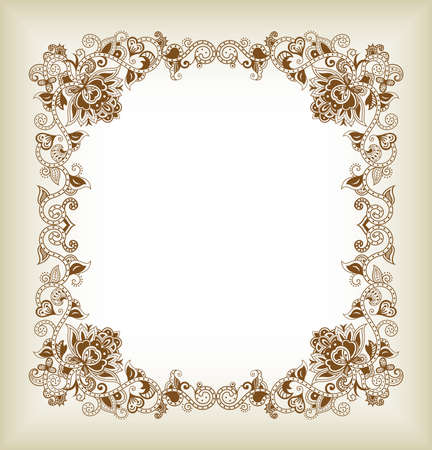 aisa: Abstract Floral Frame