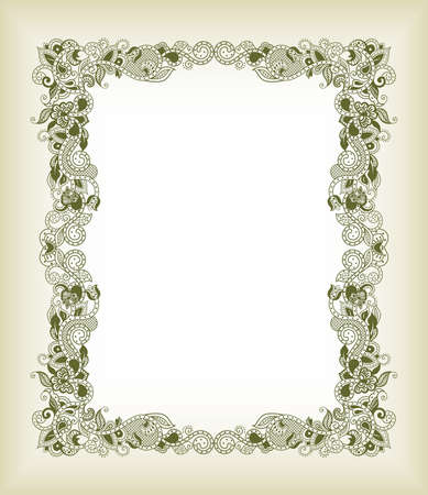 aisa: Abstract Floral Frame Background Illustration