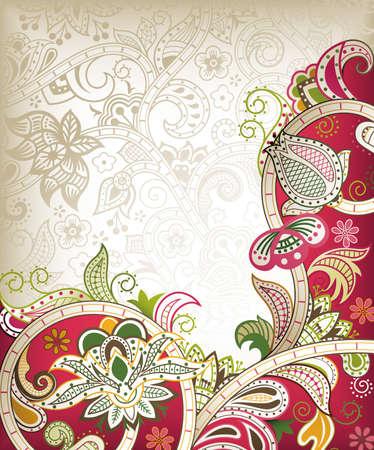 eastern: Chinese Wedding Card Illustration