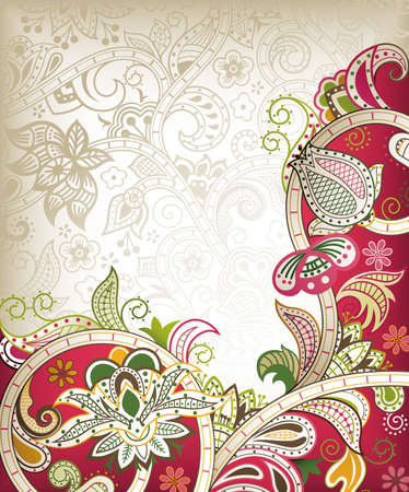Chinese Wedding Card Illustration