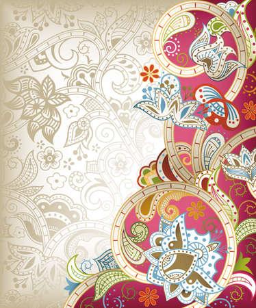 Chinese Wedding Invitation Card Stock Vector - 12268830