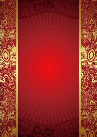 Ornate Red Background Illustration