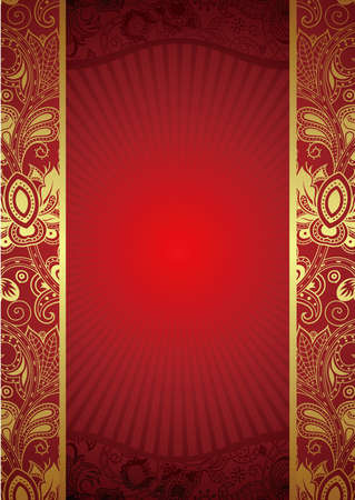 Ornate Red Background Illustration