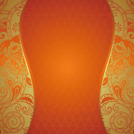 Ornate Orange Background Vector