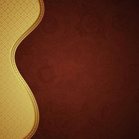 Ornate Chocolate Background Vector