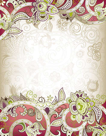 Abstract Floral Frame Stock Vector - 12349906