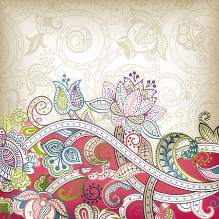 Elegant Floral Background Stock Vector - 12437140
