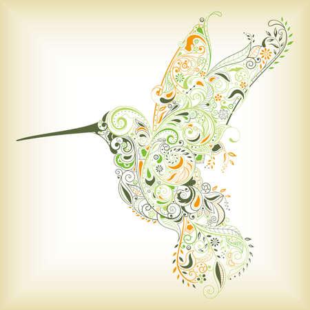 abstract birds: Abstract Humming Bird