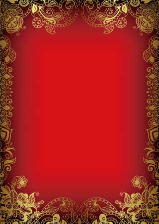 Abstract Red Frame Background Ilustrace