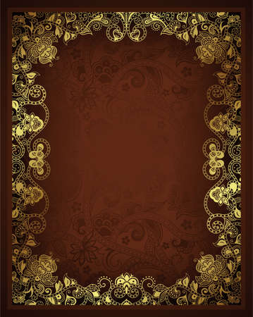 Abstract Chocolate Frame Background Vector