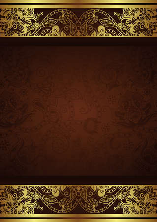 gold floral: Menu Cover