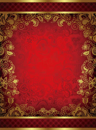Abstract Red Frame Background Vector