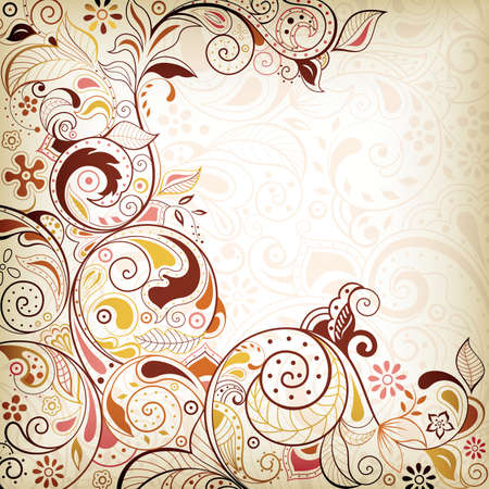 abstract floral: Abstract Floral Swirl