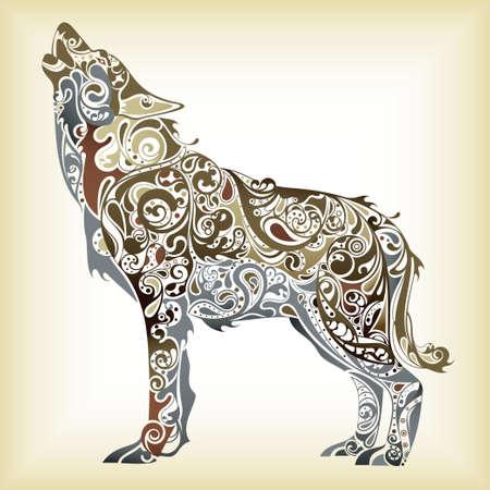 늑대: 추상 늑대