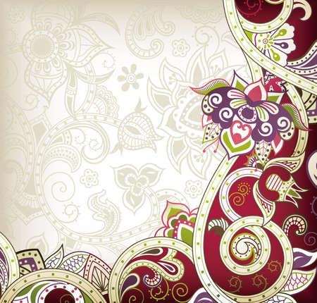 Floral Swirl Design Stock Vector - 12917615