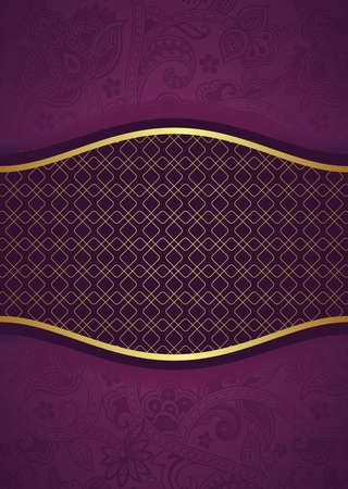 purple and gold: Abstract Purple Background