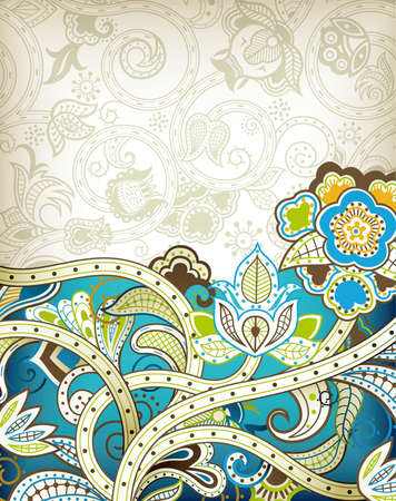 maya: Turquoise Floral Background