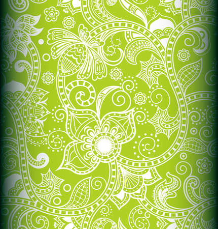 lime green background: Seamless Floral Pattern 3