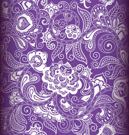 purple pattern: Seamless Floral Pattern 1