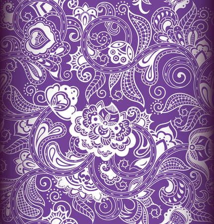 purple swirl: Seamless Floral Pattern 1