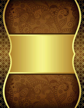 Gold and Chocolate Background Vector