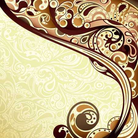Abstract Chocolate Curve Background Vector