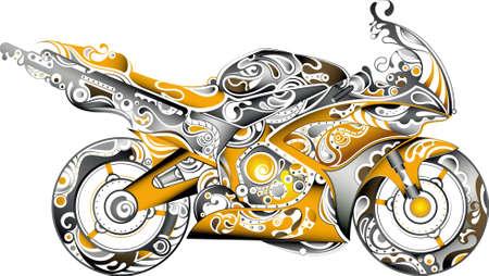motorcycle wheel: Abstract Motorbike 2