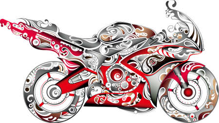 Abstract Motorbike 3