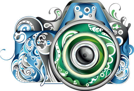 Absztrakt Camera Illusztráció