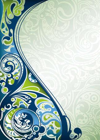 아쿠아: 추상적 인 푸른 파도