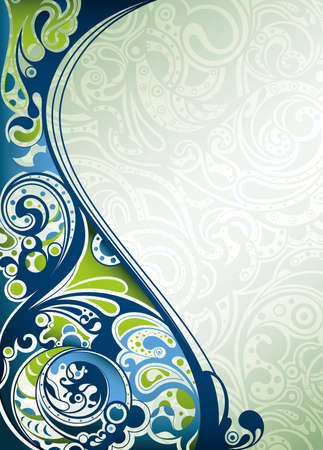 Abstract Blue Surf Vector