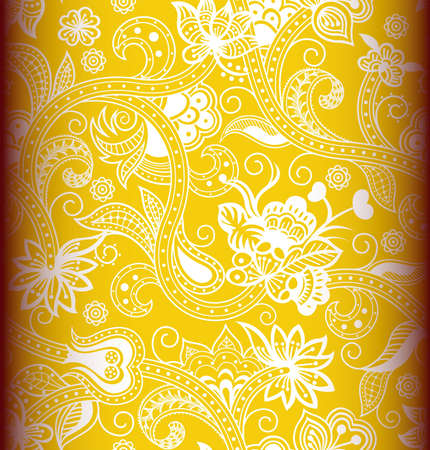 asia style: Seamless Floral Pattern 2 Illustration