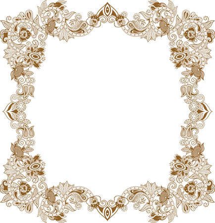 asia style: Abstract Floral Frame 5