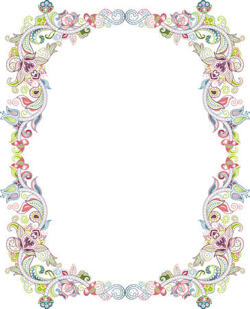 floral scroll: Abstract Floral Frame 3