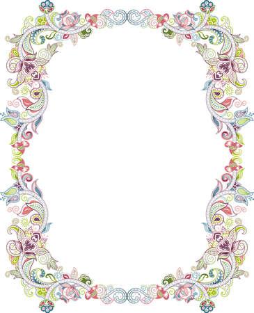 floral frame: Abstract Floral Frame 3