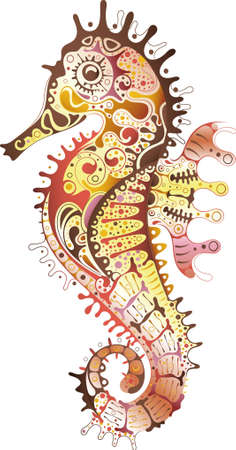 the marine life: Abstract Seahorse
