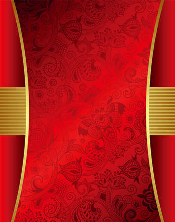 Abstract Red Menu Design Vector