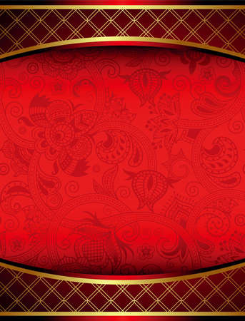 chinese menu: Abstract Red Frame