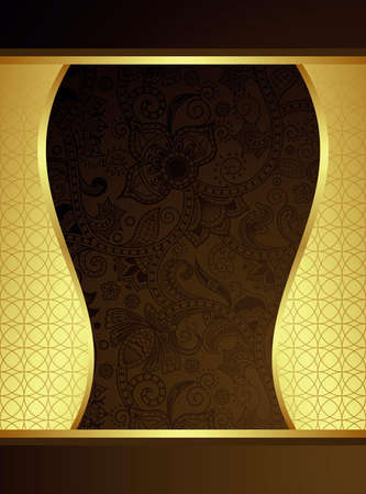 indian food: Chocolate Menu Cover Illustration
