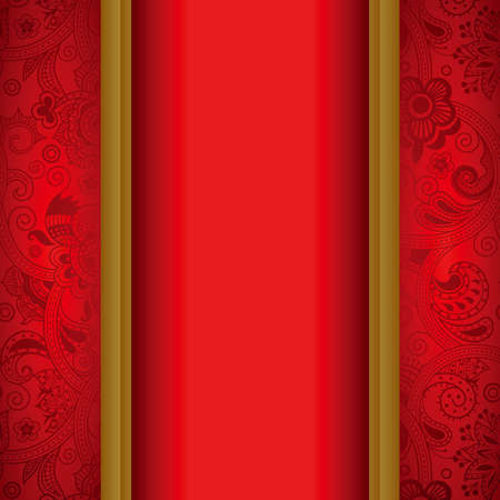 chinese menu: Abstract Red Background