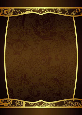 gold brown: Chocolate Frame Background