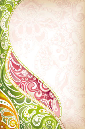 motif cachemire: Abstract curve Illustration