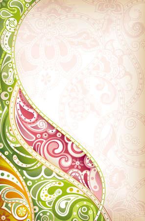disegni cachemire: Curva astratta