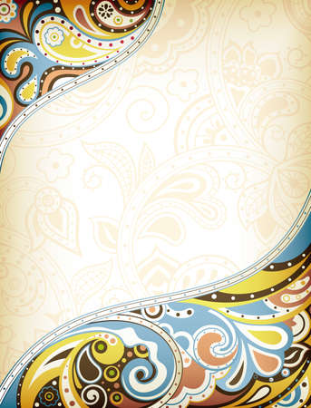 clip arts: Abstract Curve Background